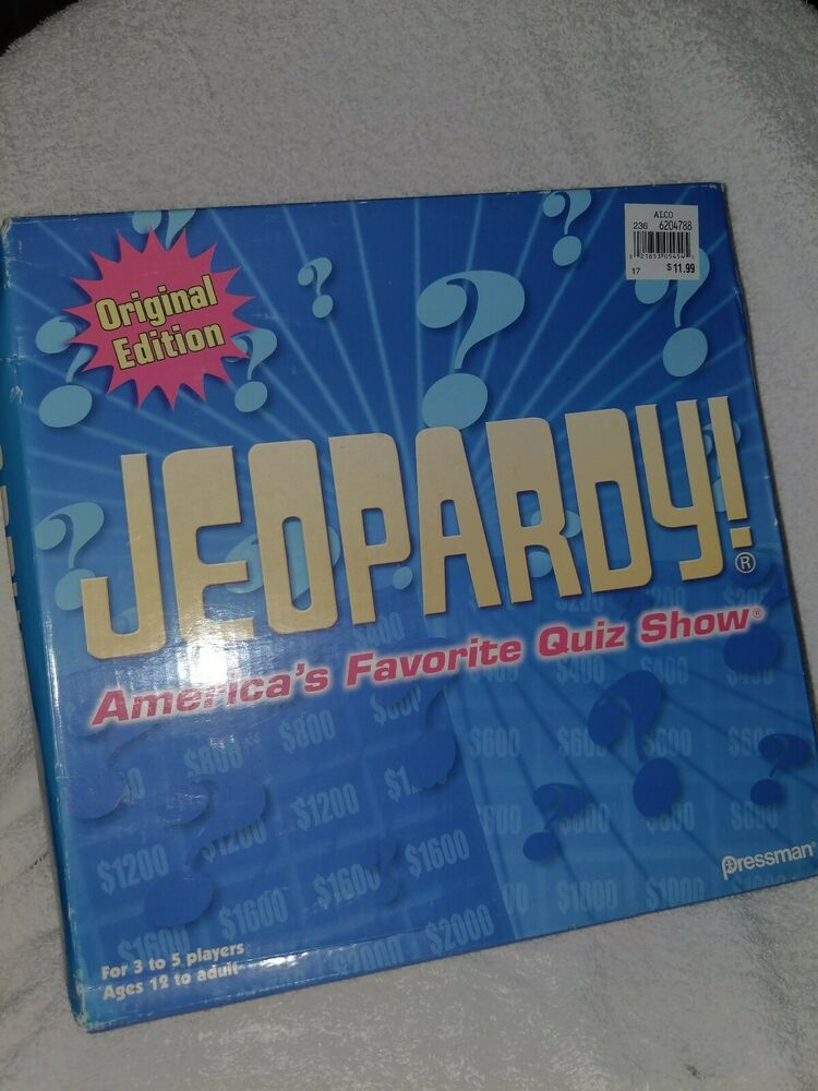 Details About Jeopardy Trivia Board Game Original Edition By