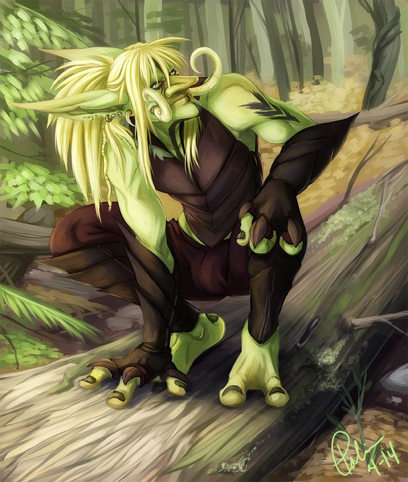 """Mal'kai, the artist's """"broody, kind of crazy, deadly Witherbark rogue."""""""