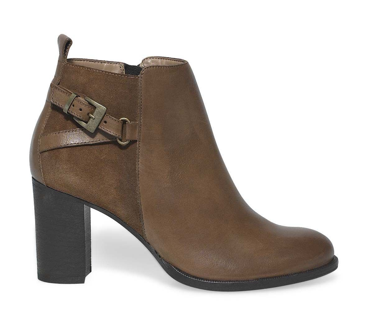 boots talon camel - boots / bottines - femme | chaussures