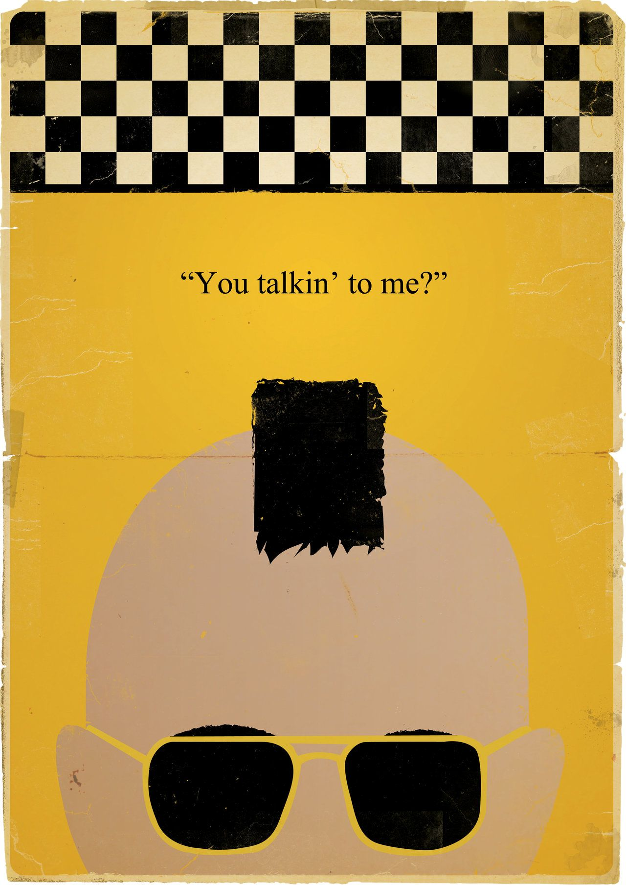 Taxi Driver Minimalist Poster By Jackdaw78 On Deviantart Movie Posters Movie Posters Minimalist Taxi Driver