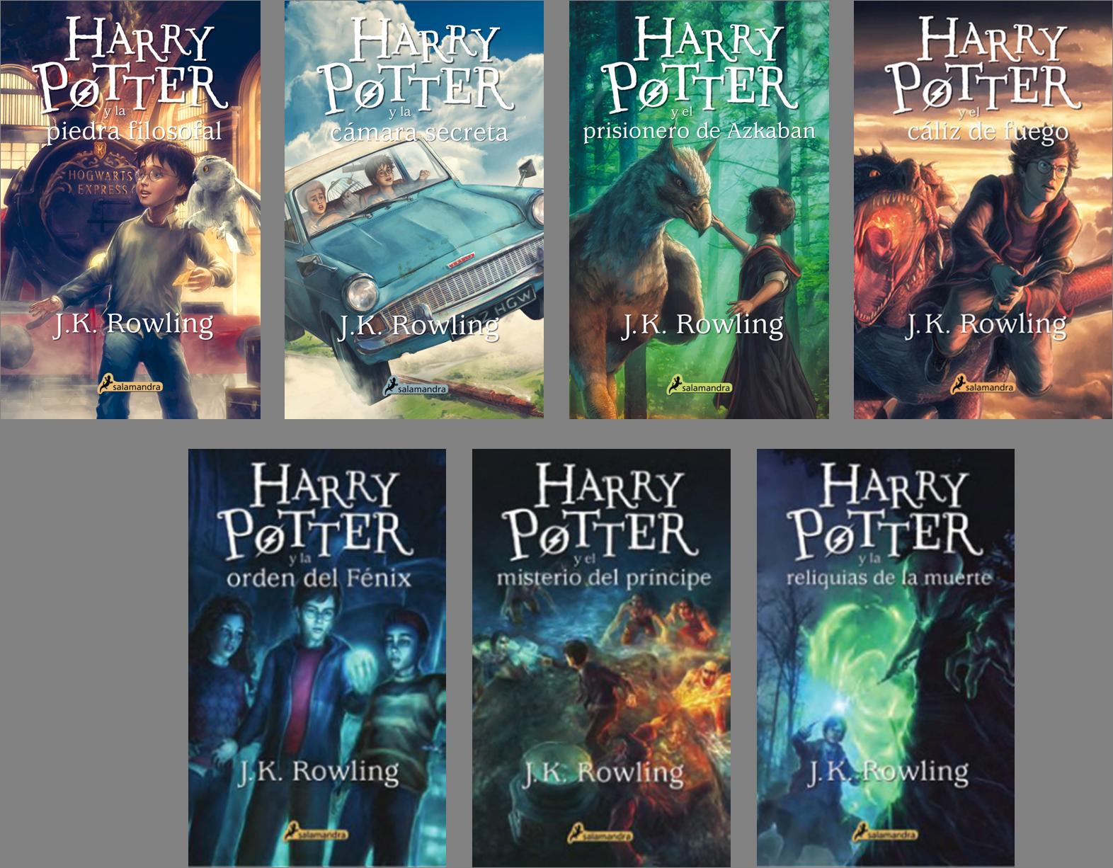 Resultado de imagen de saga harry potter libros portadas