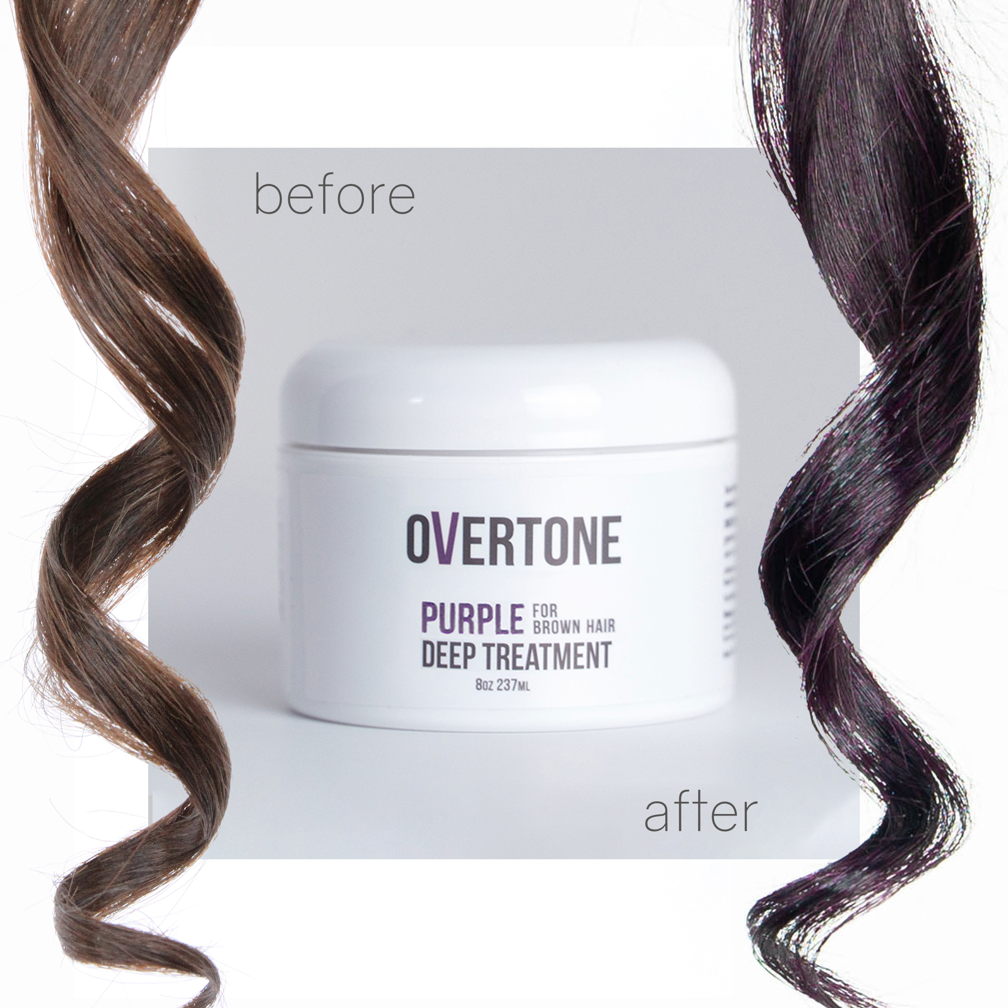 Purple For Brown Hair Complete System Overtone Haircare Brown Hair Colors Brown Blonde Hair Hair Color Light Brown