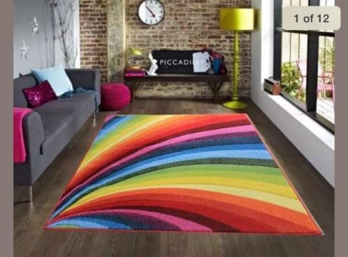 Thick-Bright-Modern-Carved-Rainbow-Multi-Coloured-Floor-Rug-Soft-Pile-Long-Mats