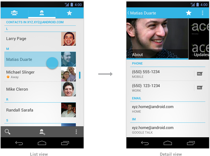 Multi-pane Layouts | Android Developers | Mobile & Tablet ...