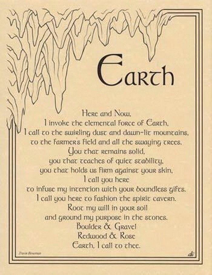 Details about EARTH INVOCATION - POSTER A4 SIZE Wicca Pagan Witch