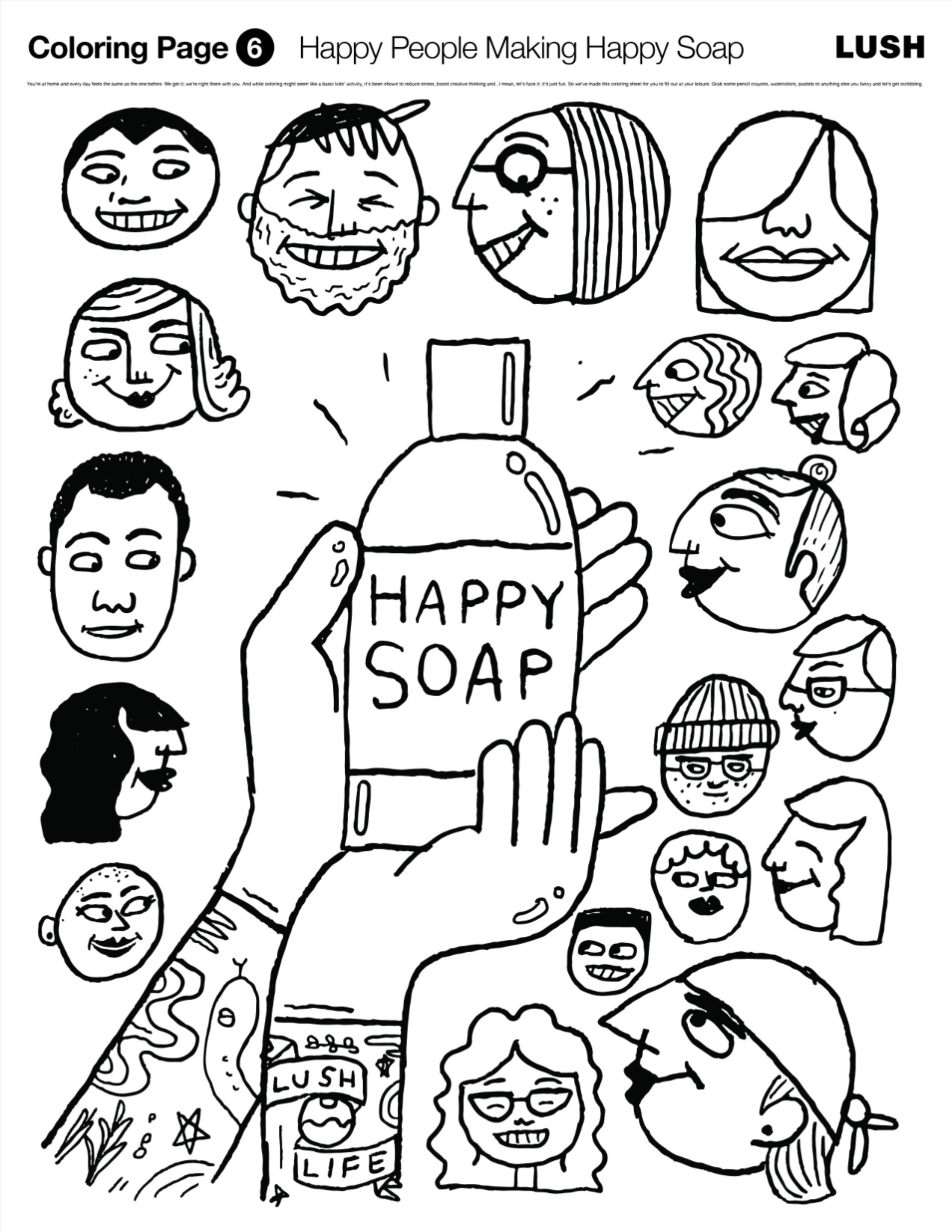 Makes Happy S Coloring Pages