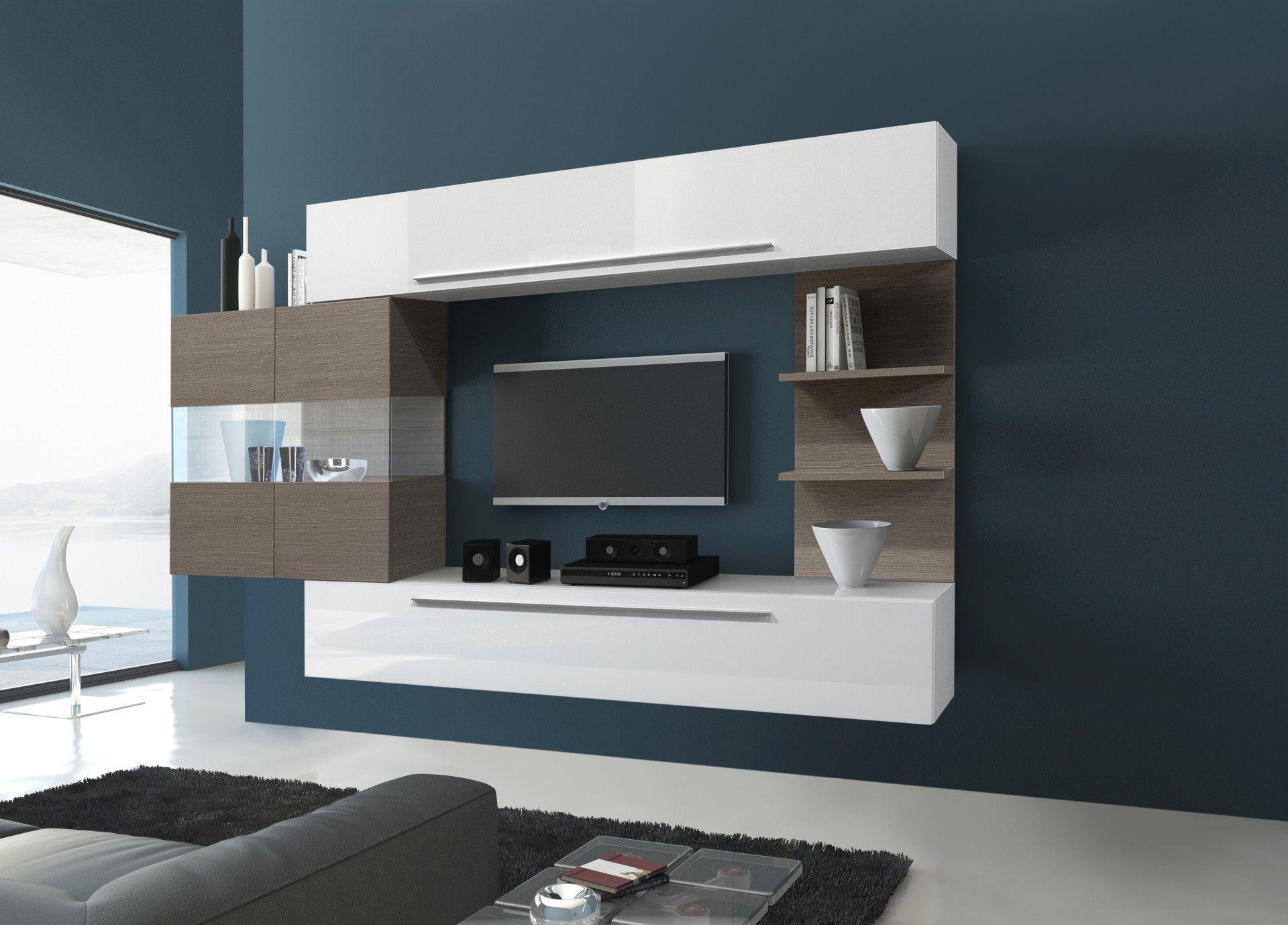 étonnant ensemble meuble tv bois Décoration fran§aise