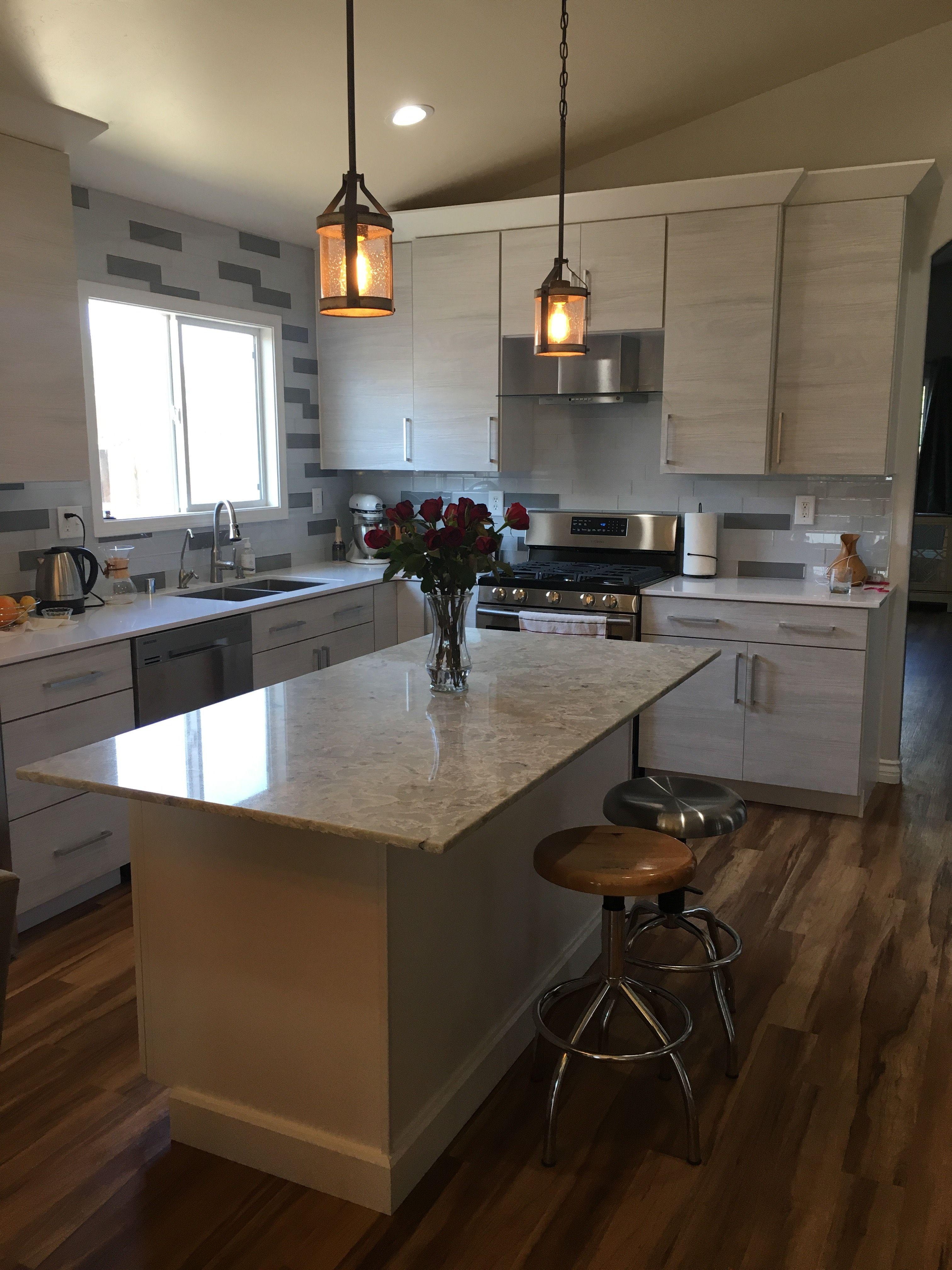 White Wood Grain Kitchen Remodel Kitchen Cabinet Remodel Kitchen Remodel Installing Cabinets