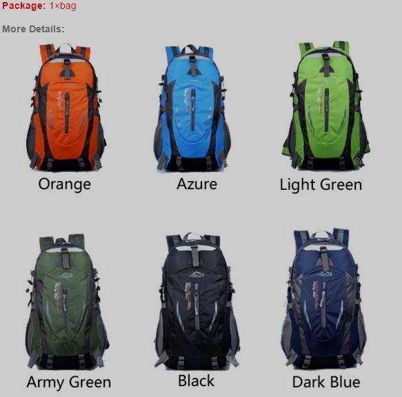 35L Waterproof Nylon Outdoor Hiking Backpacks Travel Sport School/US STOCK NEW!! #35LWaterproofNylon