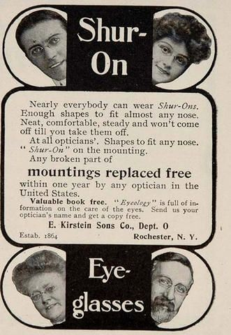 Shur On ad c 1910's rl fp pz