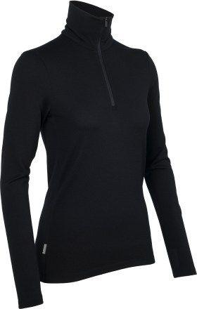 Icebreaker Women Long Sleeve Everyday Half Zip Merino schwarz