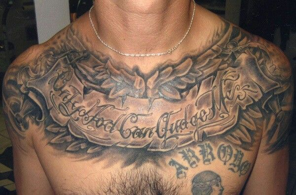 Only God Can Judge Me Tatt Cool Chest Tattoos Tattoos