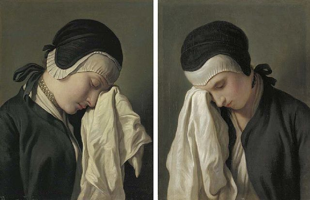Pietro Rotari, Study of Crying Woman, 18th Century