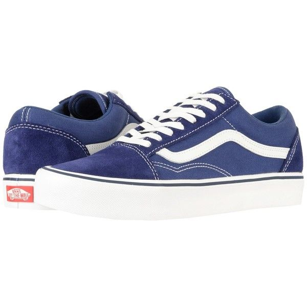 Vans Old Skool Lite ((Suede Canvas) Blue Depths) Skate Shoes ( 65) ❤ liked  on Polyvore featuring shoes 5dfa6cf05