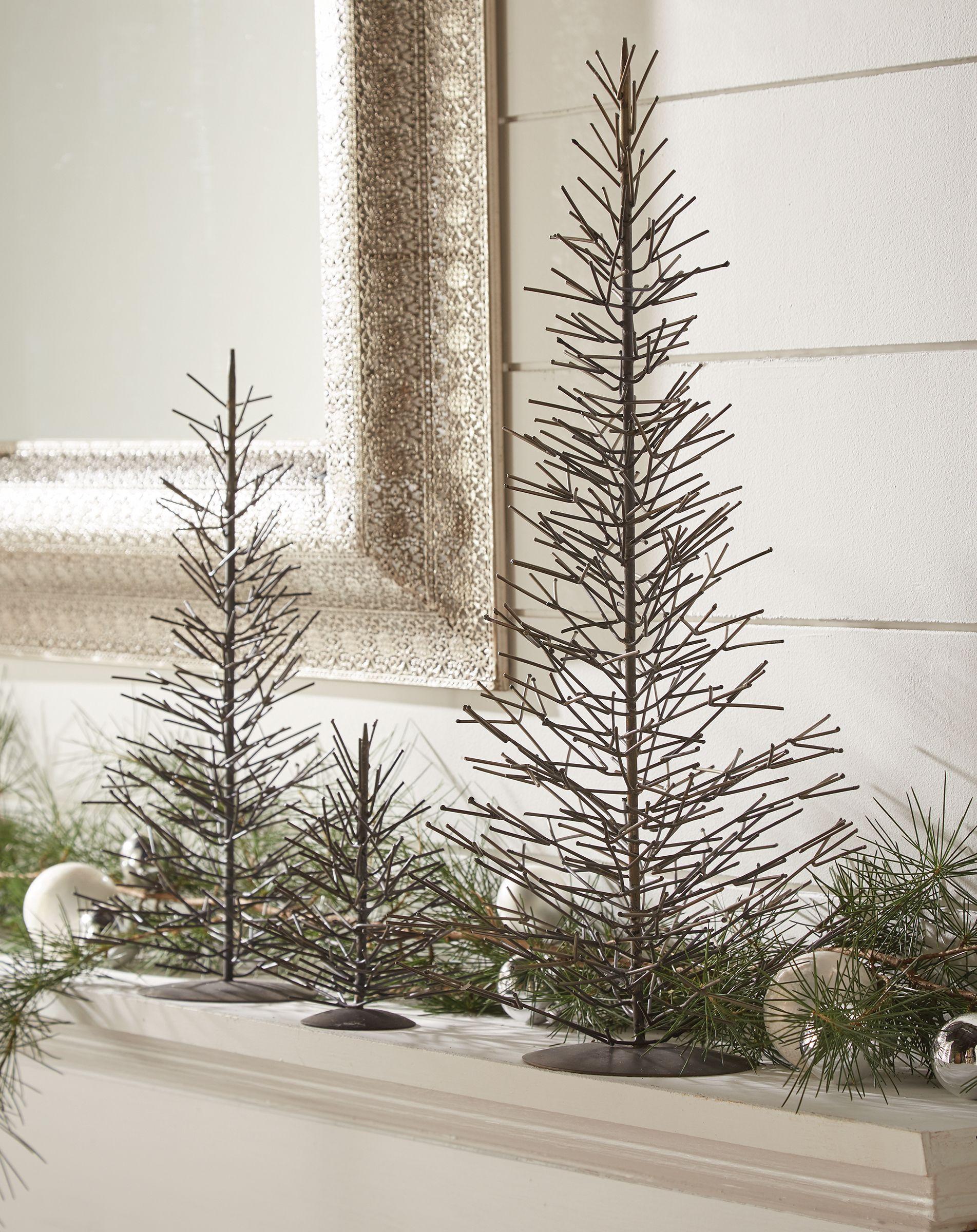 Hand Made Natural Metal Christmas Trees Metal Christmas Tree Metal Tree Metal Tree Wall Art