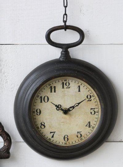 Small Pocket Watch On Chain Clock Home Clock Decor Farmhouse