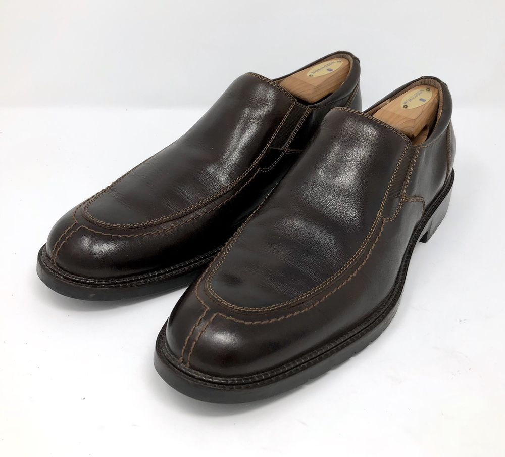 f2acf3434f4 Johnston Murphy Mens Size 11 M Dress Shoes Brown Leather Slip On Loafers