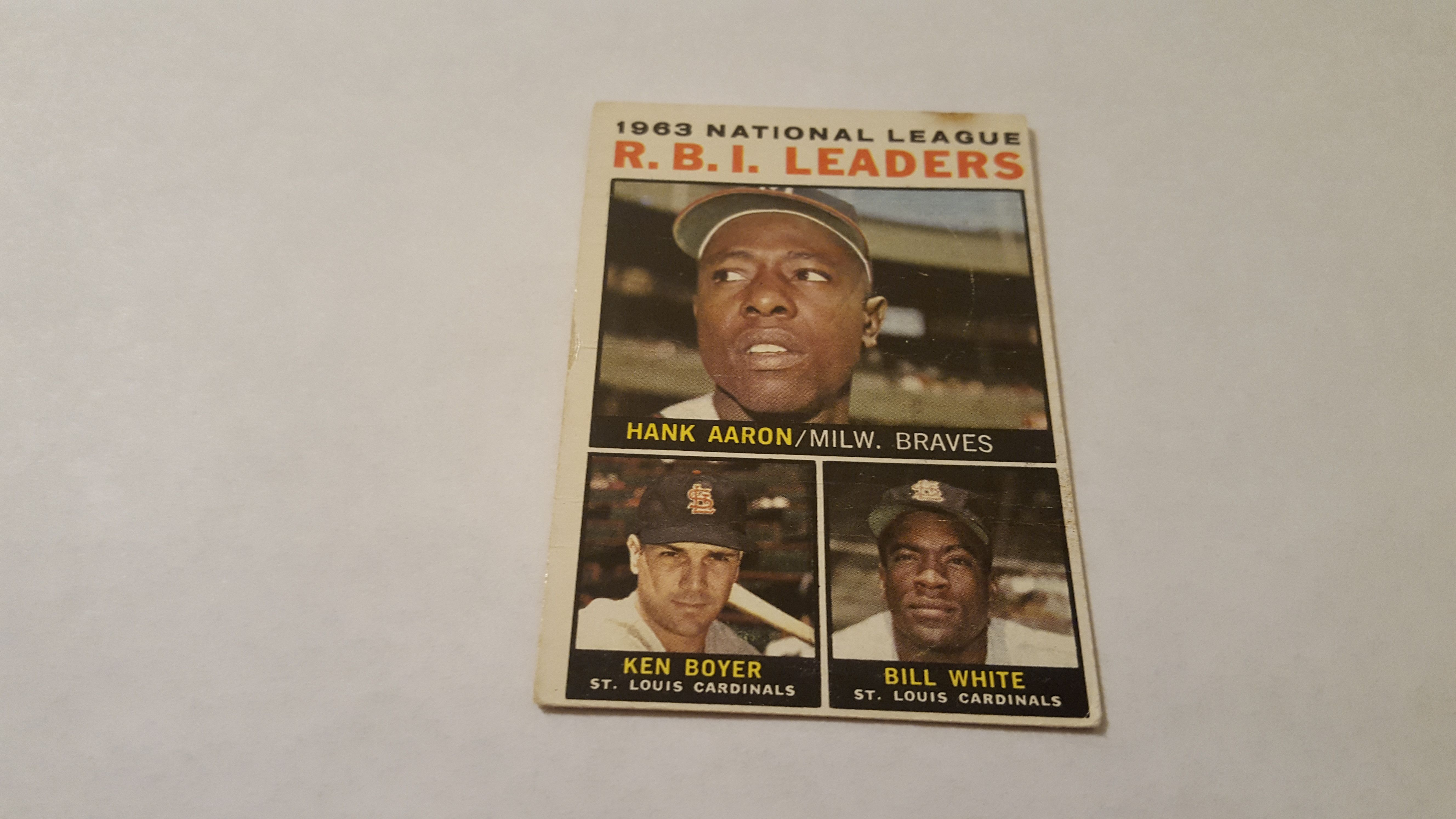 Card number 11 from the 1964 topps baseball card set