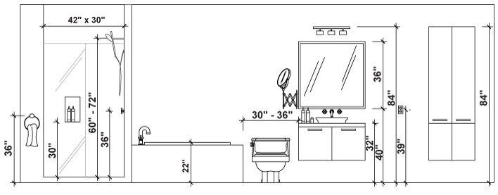 Bathroom | Bathroom dimensions, Bathroom renovation ...