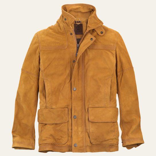 Men's Nubuck Leather Barn Coat