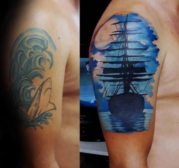 Top 57 Tattoo Cover Up Ideas 2020 Inspiration Guide Cover Up Tattoos Cover Up Tattoos For Men Cover Up Tattoos Before And After