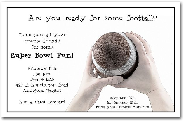 Football Catch Party Invitations Come see our entire Super Bowl