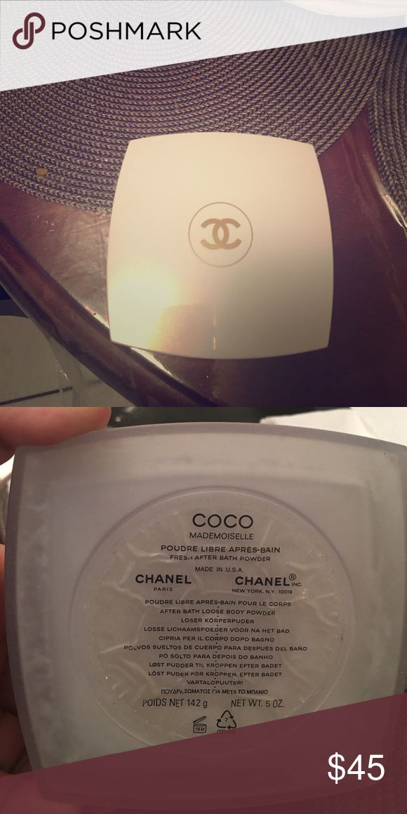 Coco mademoiselle dusting powder This is chanel's Coco Mademoiselle dusting powder. It smells wonderful and has a light shimmer CHANEL Makeup
