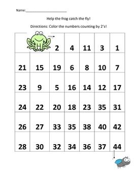 Skip Counting By 2 S Worksheet Con Imagenes Educacion