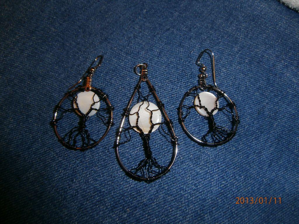 Tree of life pendant and earrings by ksuecsr.deviantart.com on @DeviantArt