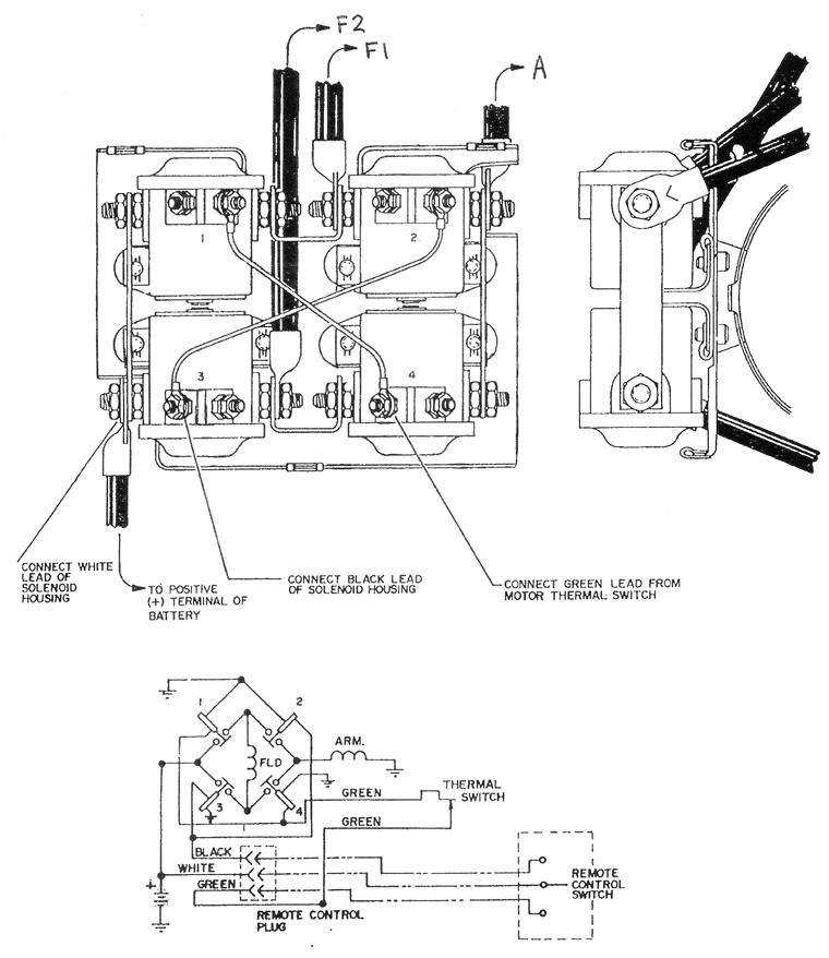 warn winch wiring diagrams  warn winch winch atv winch