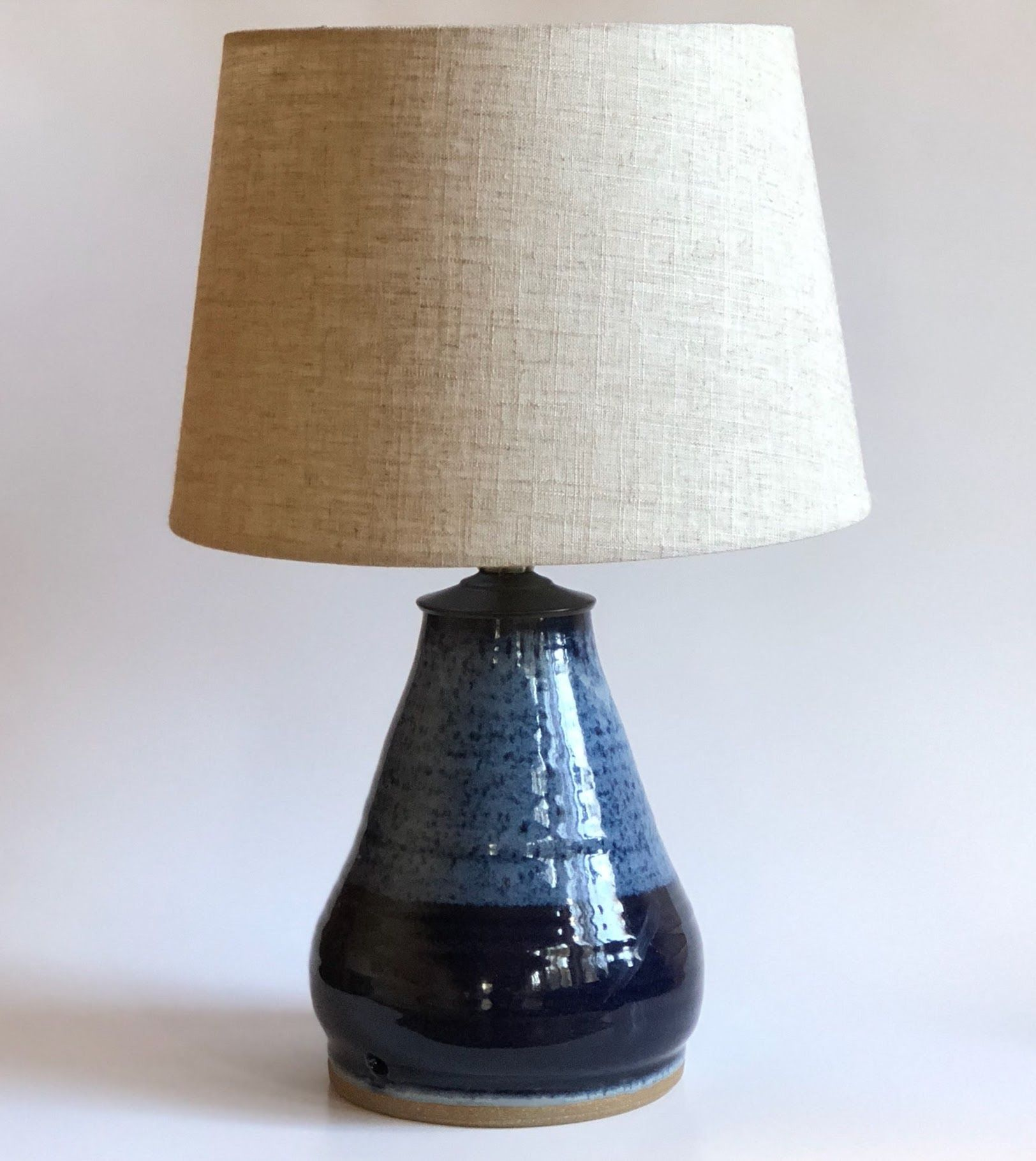 Courtney Ceramic Table Lamp Base Blue