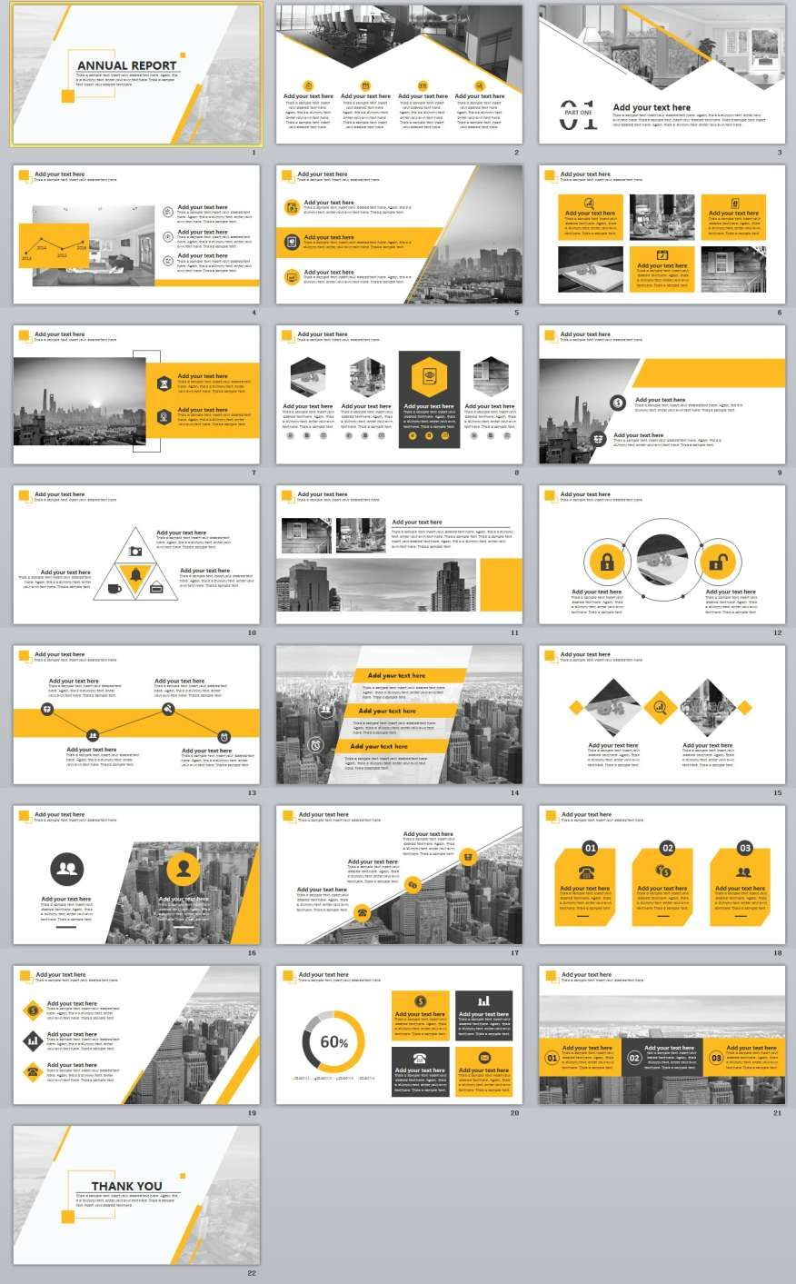 22  best annual report powerpoint template