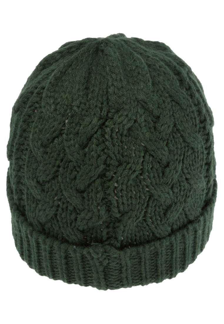 all'avanguardia dei tempi design distintivo Los Angeles Cappelli di lana ai ferri da uomo - Cuffia verde a trecce ...