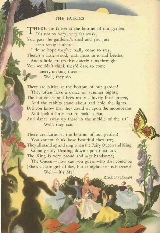 Translations Into Italian: The Fairies ~ Rose Fyleman