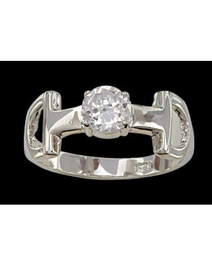 Snaffle Bit Solitaire Ring