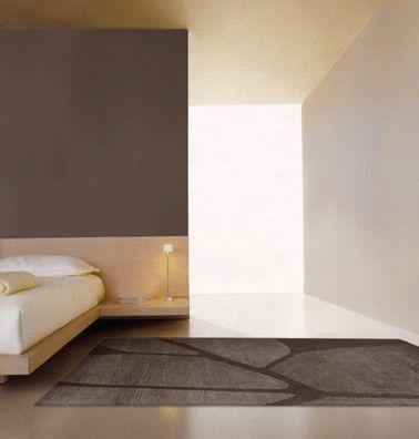 Chambre taupe et couleur lin peinture mur et sol