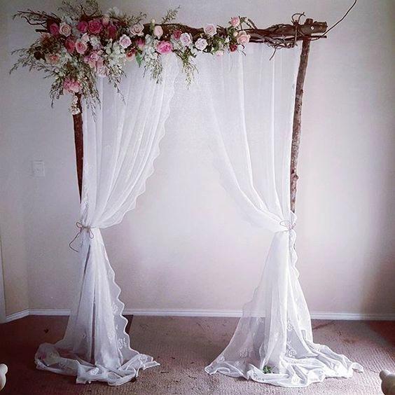 Altar Decoration For Chairs: Casamento Rustico, Casamento