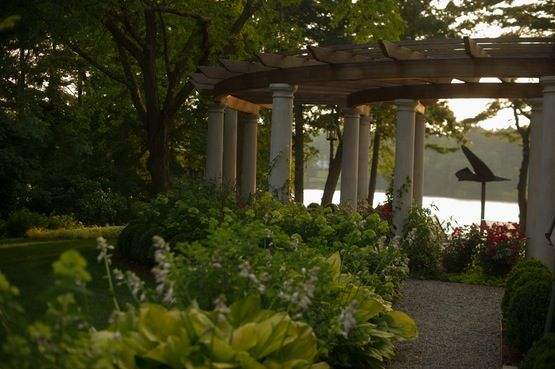 Build for the future  Garden  Patio  Pool by Janice Parker Landscape Architects