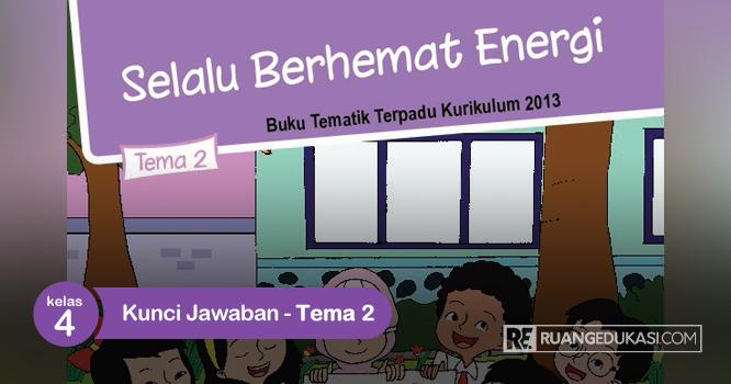 Kunci Jawaban Buku Siswa Tematik Kelas 4 Tema 2 Selalu Berhemat Energi Tema Kelas Buku Energi Alternatif