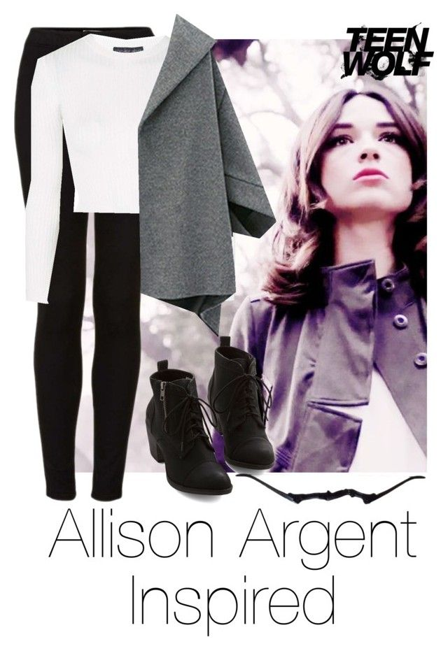 """""""Allison Argent Inspired #1"""" by emily1d567 ❤ liked on Polyvore featuring Topshop, MTV, TeenWolf and allisonargent"""