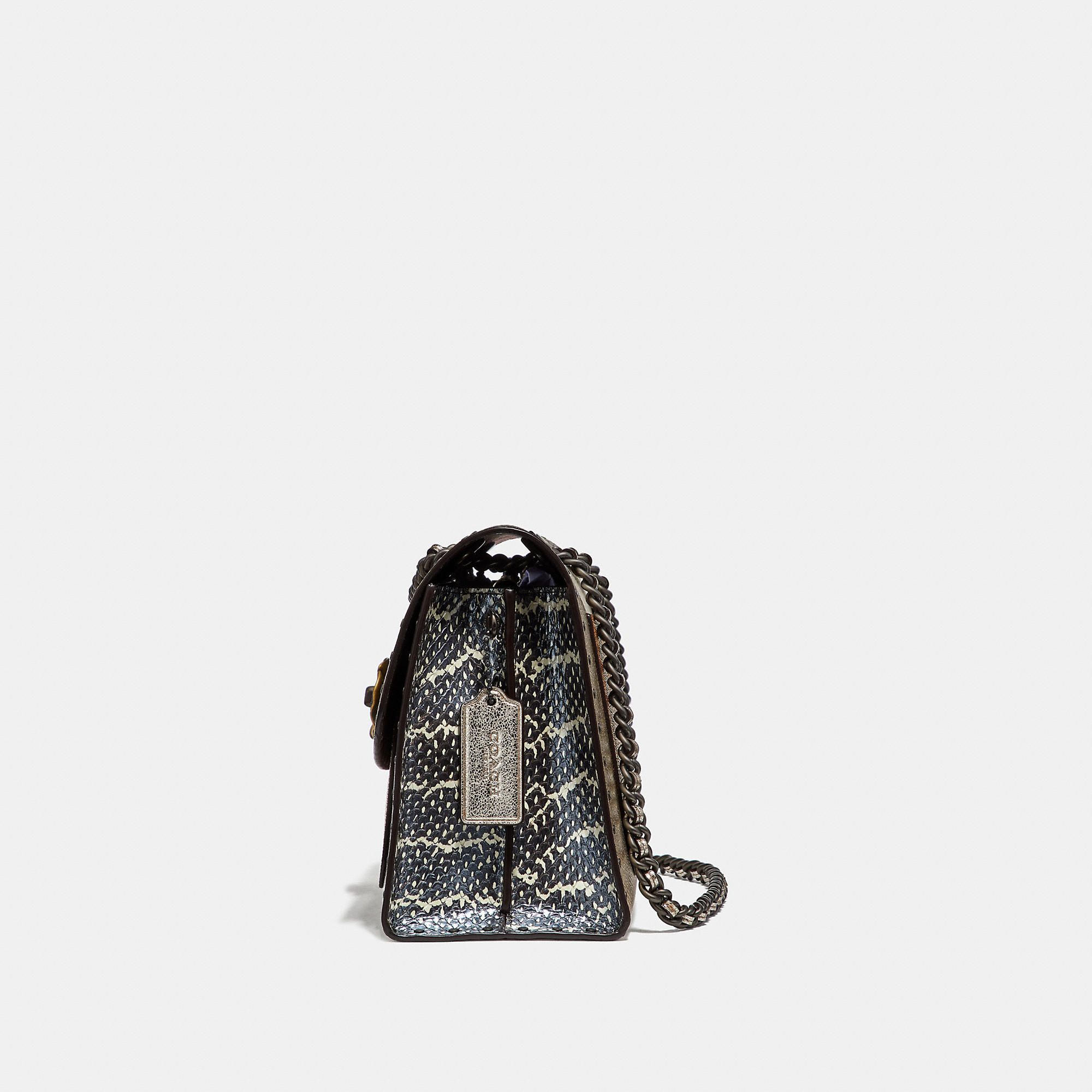 77a98776f1d7d COACH Parker In Signature Canvas With Rivets And Snakeskin Detail - Women s  Purses