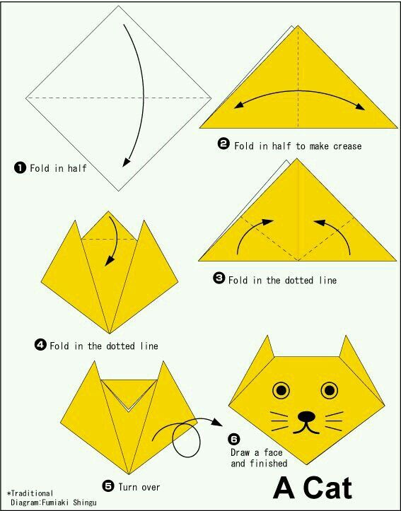 Pin By Rana Yasser On Craft Ideas Origami Origami Easy Origami Cat