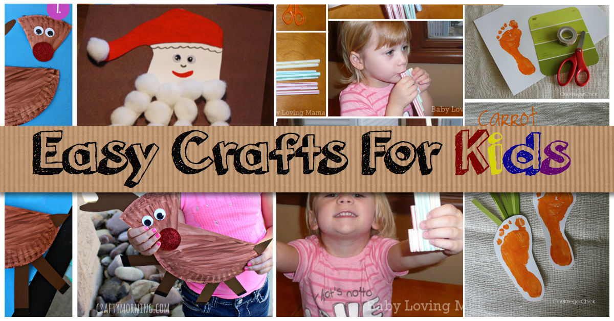 Easy Kid Craft Ideas Part - 42: Easy Crafts For Kids