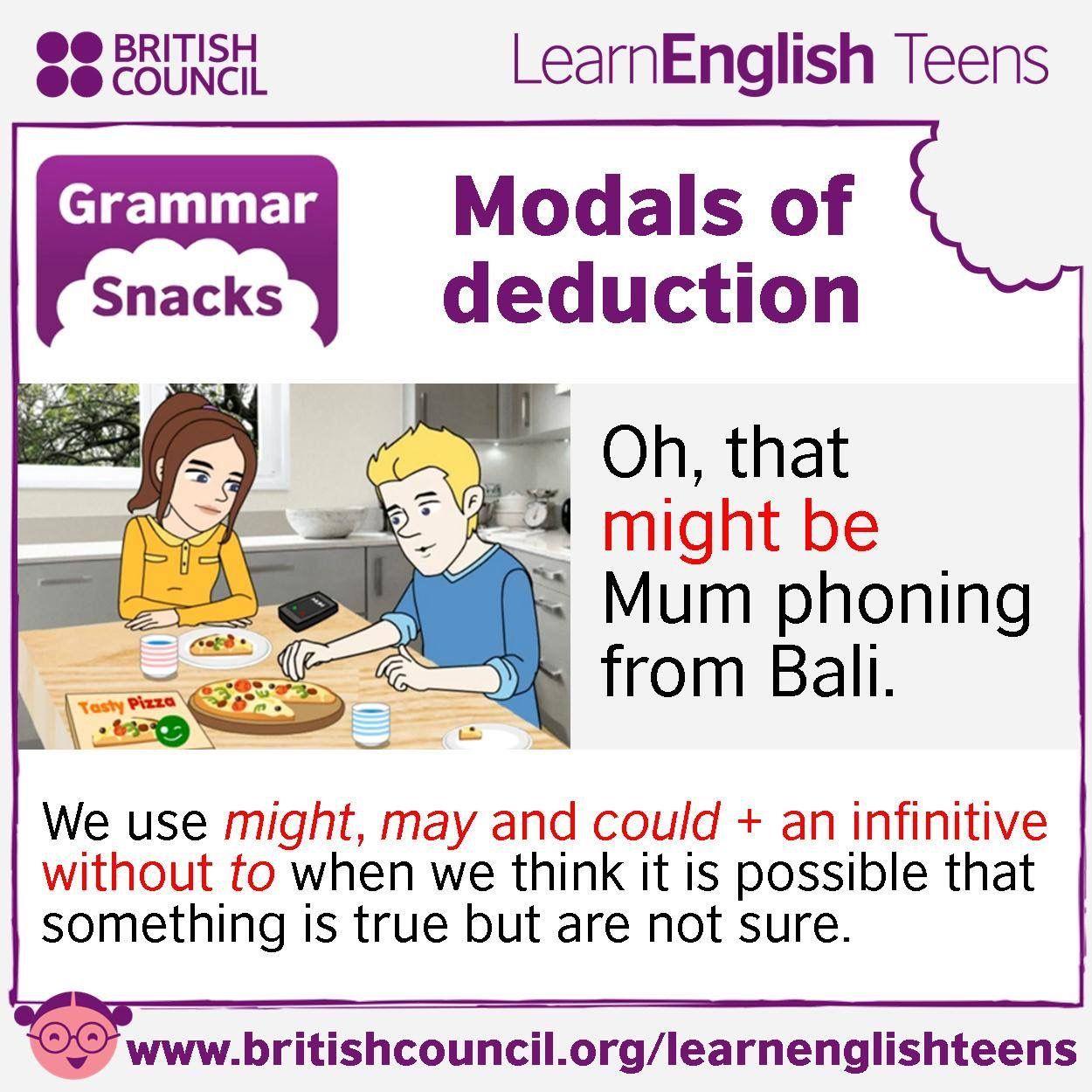 Grammar Snacks Modals Of Deduction Modalverbs
