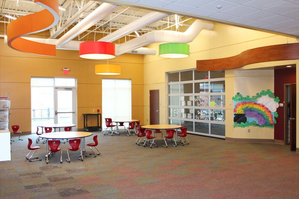 """Success Academy South Bend - First Grade """"Flex Area"""" : Educational Facility Design using Precast Concrete & Conventional Steel Construction - 105,000 sq. ft. / Two-stories - Design-Build """"Fast Track"""" Adaptive Renovation : Architecture 