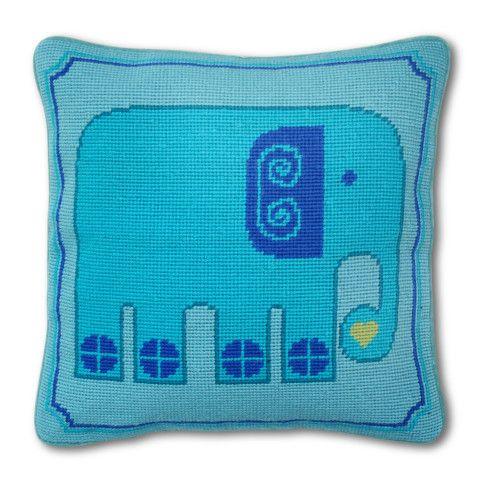 Modern Needlepoint Accent Pillows | Jonathan Adler