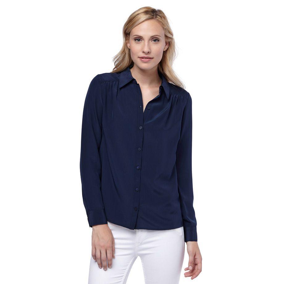 021b49d035b22 Cuyana - Silk shirt - gathered