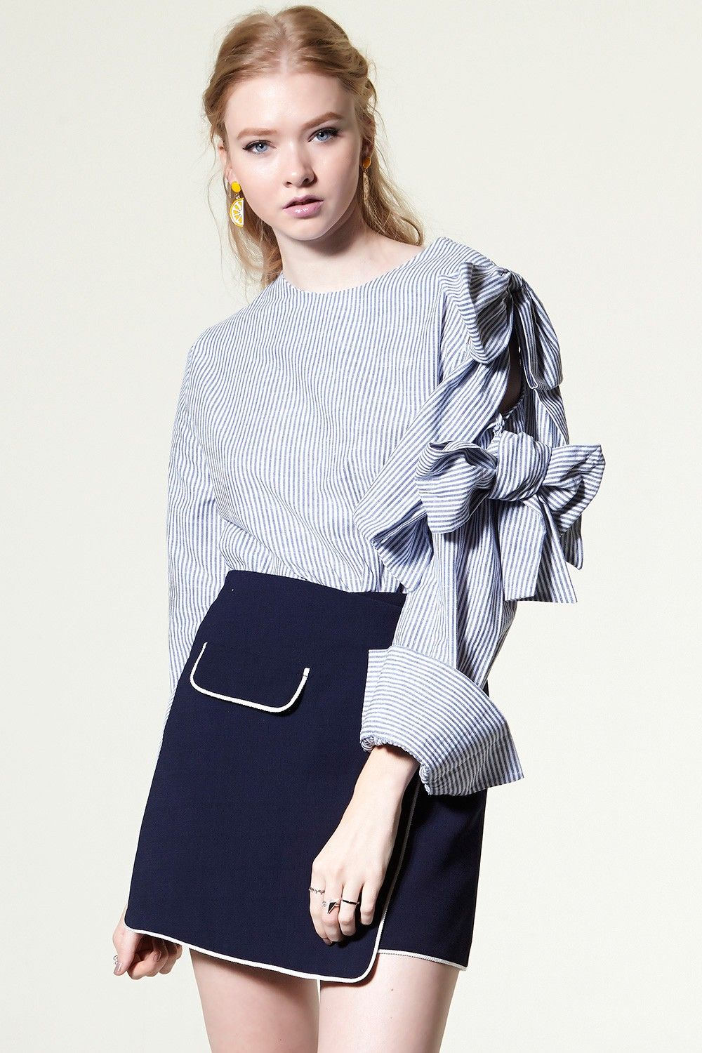 Angelay Double Ribbon Blouse Discover the latest fashion trends ...