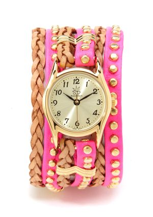 Soo cute..Studded and Braided Leather Watch