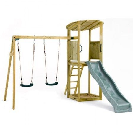 Plum® Bonobo II Wooden Climbing Frame   Children Play Equipment ...